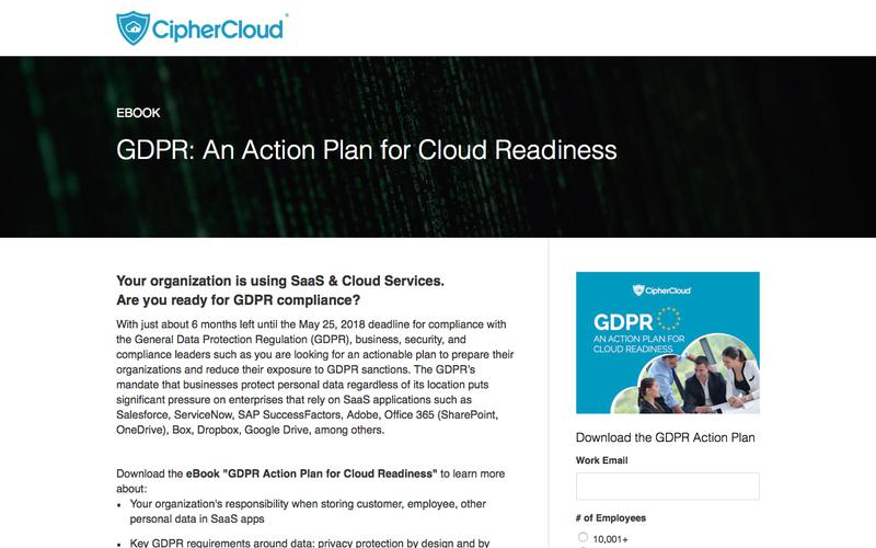 GDPR: An Action Plan for Cloud Readiness | CipherCloud