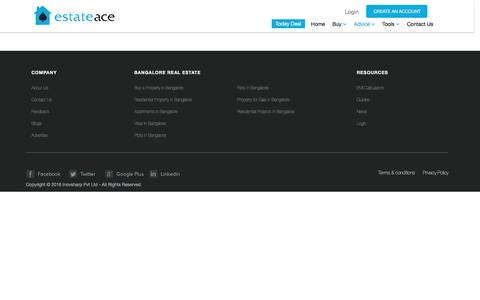 Screenshot of Press Page estateace.com - Real Estate in Bangalore | Apartments/Flats for Sale | Buy Properties in Bangalore - captured Aug. 29, 2016