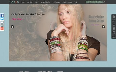 Screenshot of Home Page canlyn.com - Cheap Wholesale Costume Jewelry Online – Canlyn - captured Oct. 1, 2014
