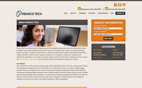 Screenshot of About Page penncotech.edu - About Pennco Tech - Pennco TechPennco Tech - captured July 12, 2016