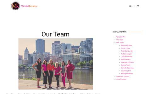 Screenshot of Team Page mindfulkreative.com - People - Mindful Kreative - captured Nov. 19, 2018
