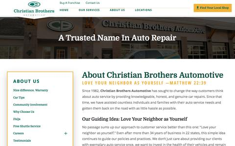 Screenshot of About Page cbac.com - About Us | Christian Brothers Automotive - captured April 19, 2017