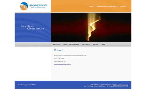 Screenshot of Contact Page newworldenergy.com.au - Contact «  New World Energy - captured Oct. 9, 2014