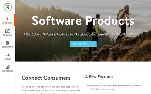 Screenshot of Products Page powerreviews.com - User Generated Content - SaaS • PowerReviews - captured Sept. 23, 2017