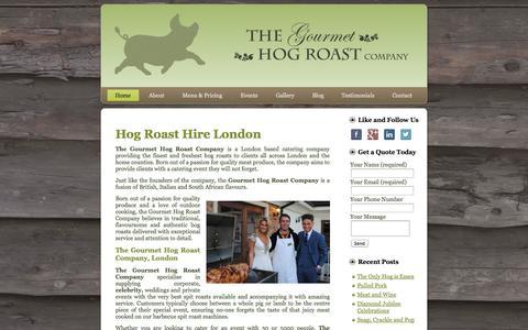 Screenshot of Home Page gourmet-hog-roast.co.uk - Hog Roast London Hire - The Gourmet Hog Roast CompanyGourmet Hog Roast - captured Oct. 7, 2014