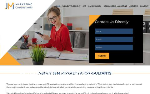 Screenshot of About Page jmmarketingconsultants.com - Contact Us | J&M Marketing Consultants - captured Dec. 12, 2018