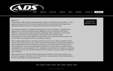 Screenshot of About Page adv-ds.com - About Us - Advanced Digital Solutions - captured Oct. 4, 2014