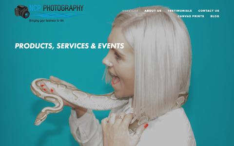 Screenshot of Home Page ncp-photography.co.uk - Bringing your business to life - captured Aug. 12, 2016
