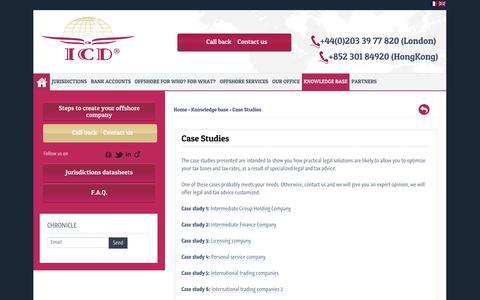 Screenshot of Case Studies Page icd-fiduciaries.com - Case Studies - captured Oct. 3, 2014