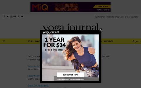 Screenshot of Support Page yogajournal.com - Customer Service - Yoga Journal - captured Dec. 14, 2018