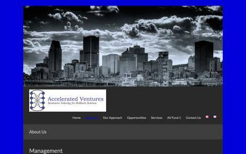 Screenshot of About Page acceleratedventures.com - About Us | Accelerated Ventures Inc. - captured Oct. 29, 2014