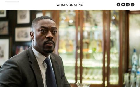 Screenshot of Blog sling.com - What's On Sling - Sports, Shows and Movies on Sling TV - captured Jan. 13, 2018