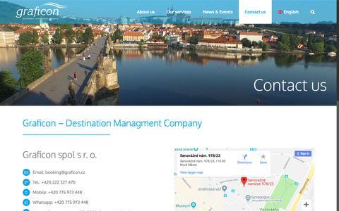 Screenshot of Contact Page graficon.cz - Contact us – Graficon DM – Destination Managment Company - captured Sept. 30, 2018