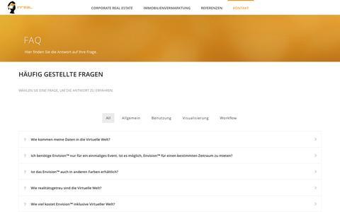 Screenshot of FAQ Page inreal-tech.com - FAQ - Inreal - Interactive Experience - captured Dec. 6, 2016