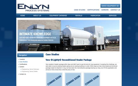 Screenshot of Case Studies Page enlyn.com - Case Studies - ENLYN - captured Sept. 28, 2018