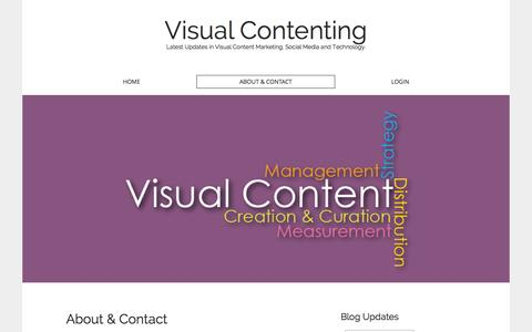 Screenshot of About Page visualcontenting.com - About & Contact - Visual Contenting - captured Oct. 26, 2014