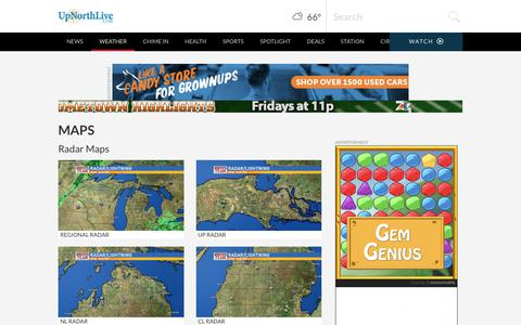 Screenshot of Maps & Directions Page upnorthlive.com - Traverse City Maps | News, Weather, Sports, Breaking News | WPBN - captured Sept. 25, 2018