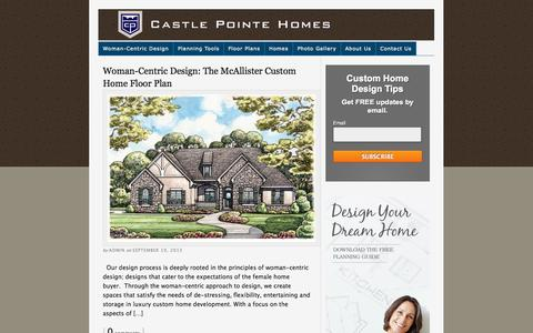 Screenshot of Blog castlepointehomes.com - Castle Pointe Homes Blog | Iowa Custom Home Builder - captured Sept. 29, 2014