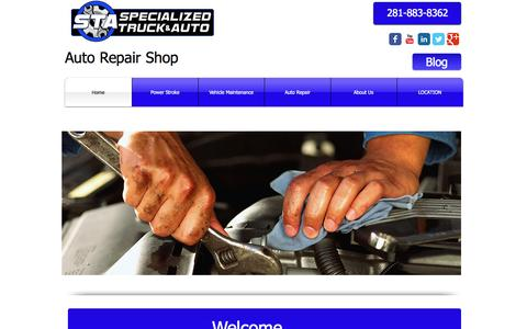 Screenshot of Home Page specializedtruckandauto.com - Auto Repair Humble tx | The Price and Services Are Excellent - captured Oct. 9, 2014