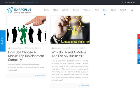 Blog | Exarcplus Mobile Apps Pvt Ltd.