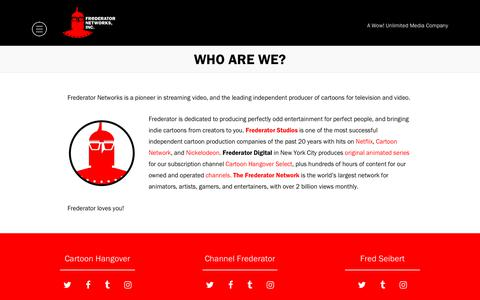 Screenshot of About Page frederator.com - Who are we? - Frederator - captured Sept. 29, 2018