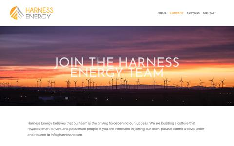 Screenshot of Signup Page harnessre.com - Met Tower Installation and Repair Experts — Harness Energy - captured Feb. 17, 2018