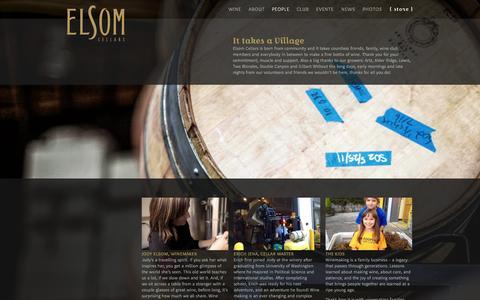 Screenshot of Team Page elsomcellars.com - People | Elsom Cellars - captured Sept. 29, 2014