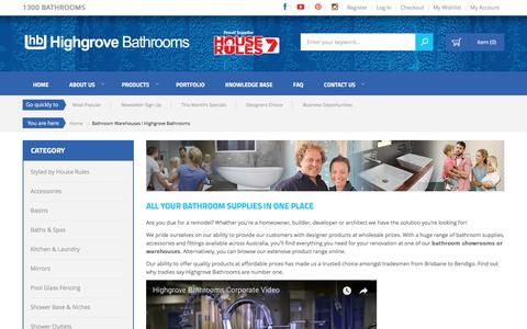 Screenshot of About Page highgrovebathrooms.com.au - Bathroom Warehouses l Highgrove Bathrooms - captured July 6, 2018