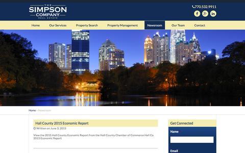 Screenshot of Press Page simpsoncompany.com - The Simpson Company | Real Estate - captured Feb. 16, 2016