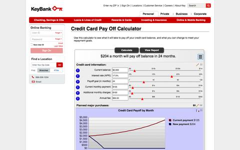 Credit Card Pay Off Calculator