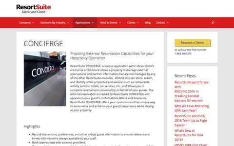 CONCIERGE | ResortSuite