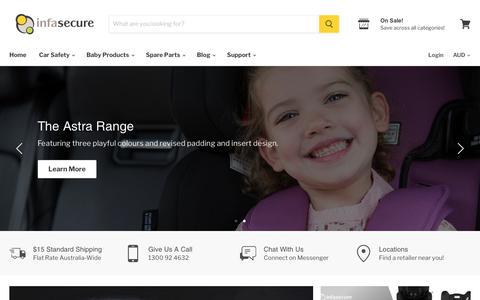 Screenshot of Home Page infasecure.com.au - InfaSecure - captured Sept. 13, 2019