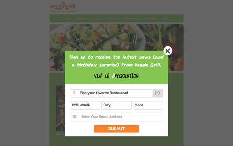 Screenshot of Menu Page veggiegrill.com - Menu | VeggieGrill - captured Feb. 8, 2016