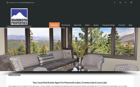 Screenshot of Home Page mammothlakes-real-estate.com - Mammoth Real Estate | Mammoth Lakes Real Estate | Search MLS - captured Sept. 30, 2014