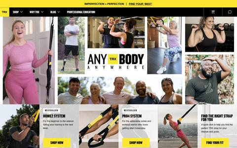 Screenshot of Home Page Site Map Page trxtraining.com - TRX Suspension Training | Suspension Weight Training - captured Sept. 24, 2019