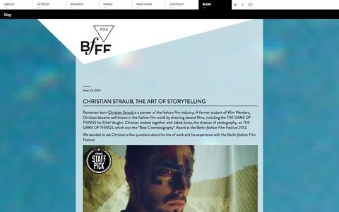 Screenshot of Blog berlinfashionfilmfestival.net - Blog Archives | Berlin fashion Film Festival - captured Sept. 22, 2014