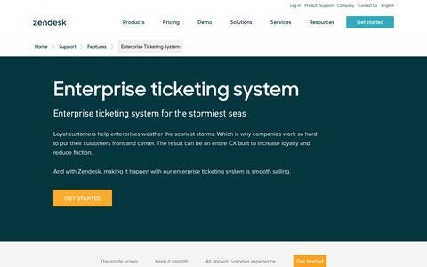 Screenshot of Support Page zendesk.com - Enterprise Ticketing System | Zendesk - captured Aug. 5, 2018