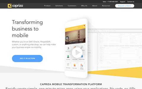Mobile App Platform, Enterprise Mobile Solutions - Capriza