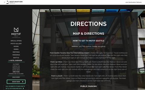 Screenshot of Maps & Directions Page motifseattle.com - Directions on How to Get to Motif Seattle - captured June 13, 2017
