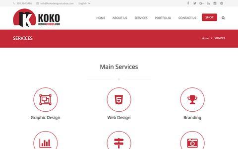 Screenshot of Services Page kokodesignstudios.com - Services Koko Design Studios | Koko Design Studios - captured Nov. 27, 2016