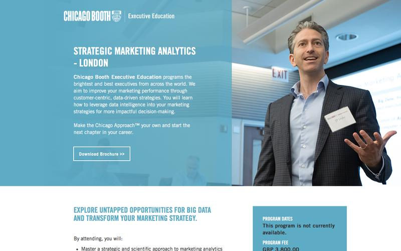 Executive Education at Chicago Booth | Strategic Marketing Analytics - London
