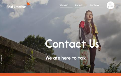 Screenshot of Contact Page boldcreative.co.uk - Bold Creative - Home - captured Aug. 3, 2018