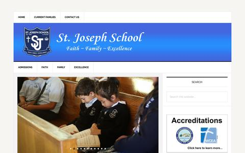 Screenshot of Home Page st-josephschool-lp.org - St. Joseph Catholic School La Puente – St. Joseph Catholic School Faith Family Excellence - captured Dec. 1, 2018