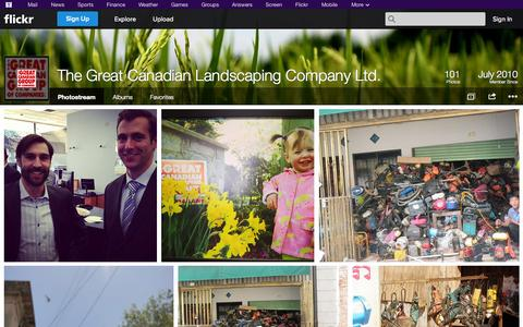 Screenshot of Flickr Page flickr.com - Flickr: The Great Canadian Landscaping Company Ltd.'s Photostream - captured Oct. 26, 2014