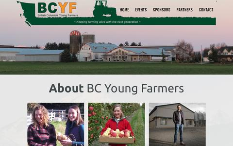 Screenshot of Home Page bcyf.ca - Home Page - BCYF - captured Feb. 7, 2016