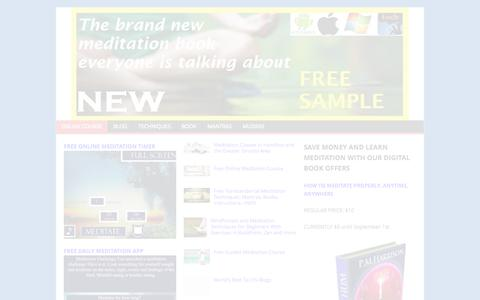 Screenshot of Home Page thedailymeditation.com - TheDailyMeditation: Your Complete Online Meditation Course %%TheDailyMeditation: Your Complete Online Meditation Course %%|Online Meditation Course - captured Sept. 22, 2014