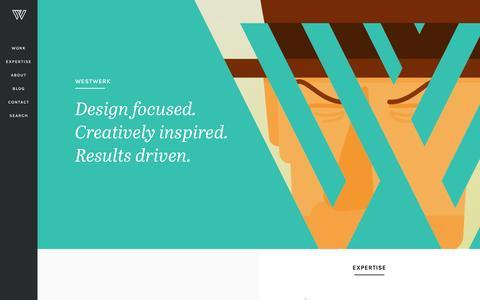 Screenshot of Home Page westwerk.com - Westwerk | Digital Design & Development Agency | Branding & Marketing - captured Nov. 25, 2016