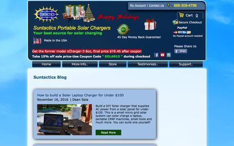 Screenshot of Blog suntactics.com - Suntactics - Portable Solar Chargers   Reliable-Durable-Compact   Blog - captured Dec. 11, 2016