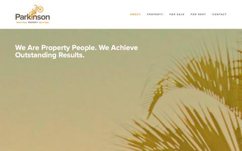 Screenshot of Home Page parkinson.net.au - Parkinson - captured Jan. 25, 2016