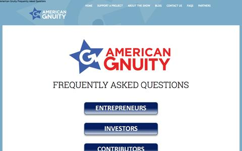 Screenshot of FAQ Page gnuity.com - American Gnuity Frequently Asked Questions - captured Nov. 20, 2016